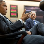 President Barack Obama with Attorney General Eric Holder. Photo by Pete Souza.