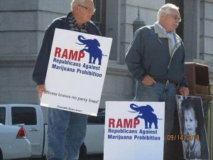 Republicans Against Marijuana Prohibition supporters rallying at the Pennsylvania State Capitol for passage of a medical cannabis bill.