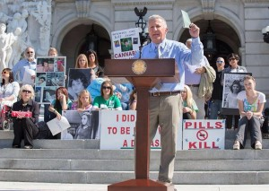 Republican State Senator Mike Folmer at Pennsylvania rally by Campaign 4 Compassion at state Capitol on September 15.
