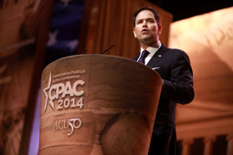 Marco Rubio speaking at CPAC 2014 in Washington, DC by Gage Skidmore.