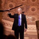Photo of Mitch McConnell speaking at CPAC 2014 in Washington, DC taken by Gage Skidmore.