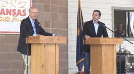 Debate between Kansas Republican Pat Roberts and his challenger Independent Greg Orman