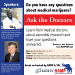 RAMP (Republicans Against Marijuana Prohibition) will host a forum with medical doctors answering questions about marijuana. It will be held on November 19, 2014 at the University of Houston Graduate School of Social Work.