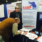 John Baucum, political director of Republicans Against Marijuana Prohibition (RAMP) working the RAMP booth at the Conservative Political Action Conference (CPAC).
